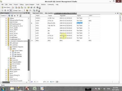 VD04 - Update và Delete sql