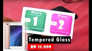 How to Install Tempered Glass Anti Scratch Xiaomi Redmi 4a