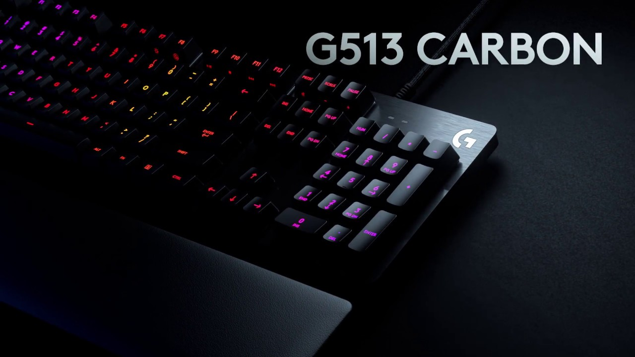 Mechanical keyboard Logitech G513 Carbon (SWE) - Novastar
