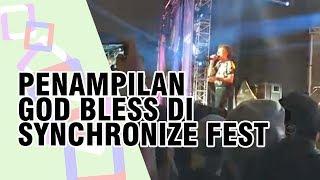Penampilan God Bless Meriahkan Panggung Synchronize Fest 2018