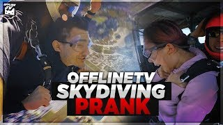 OFFLINETV SKYDIVE PRANK! SHE THOUGHT WE WERE GOING TO SIX FLAGS!