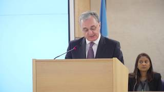 Remarks by Foreign Minister Zohrab Mnatsakanyan at the 43rd Session of the United Nations Human Rights Council