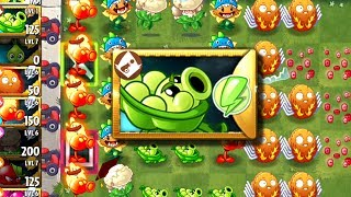 Sling Pea New Premium Plant Unlocked - Plants vs Zombies 2 Gameplay