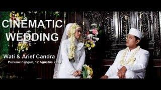 preview picture of video 'Wedding Clip Cinematic -  Wati & Arief Candra (Purwawinangun, 12/08/2013)'