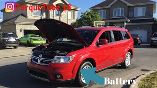 How to unlock 2016 Dodge Journey when the batterie dies and the key doesn't work