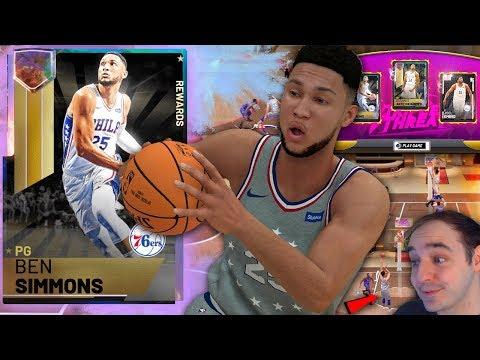 NBA 2K19 My Team GALAXY OPAL BEN SIMMONS! THIS CARD IS FANTASY CHEESE!!!