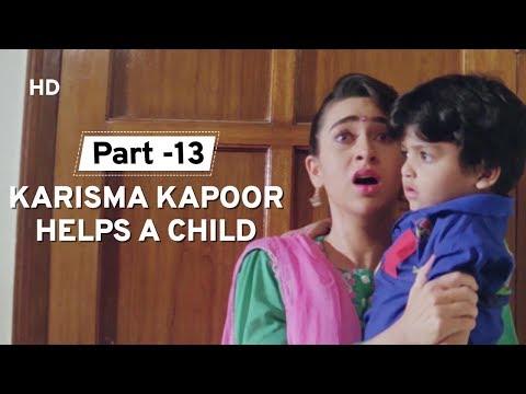 Karisma Kapoor Saves A Child | Govinda | Dulaara | Farida | Hindi Action Movie