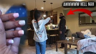 I GAVE OUR DAUGHTER ACRYLIC NAILS PRANK ON HUSBAND!!!