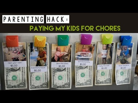 Parenting Hack: How to Pay Kids for Chores
