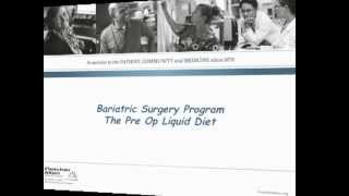 The Bariatric Surgery Program Pre-Operative Liquid Diet