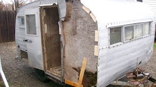 """1960 Metzendorf Trailer. """"How to build a camper from scratch using some old parts"""""""