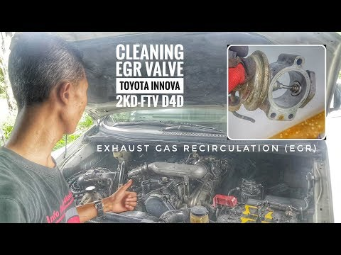 TOYOTA ENGINE REPAIR D4D 2 2 EGR VALVE CLEANING - смотреть онлайн на