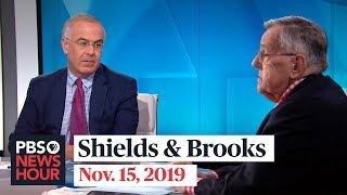 Shields and Brooks on impeachment testimony, newest 2020 Democrats