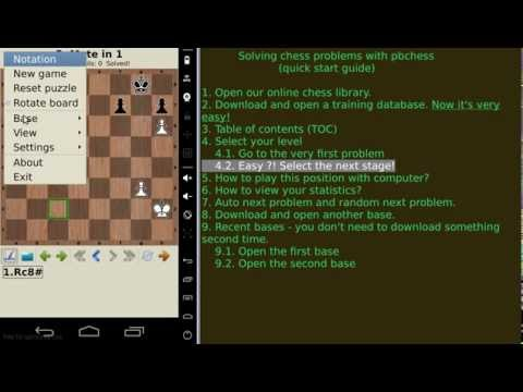 Video of chess tactics and strategy