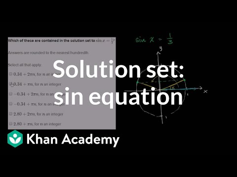 Solving Sinusoidal Equations Of The Form Sinxd Video Khan Academy