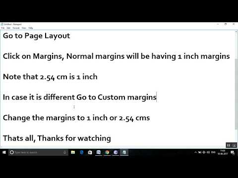 How to set 1 inch Margins in Word - Excel, Word and PowerPoint