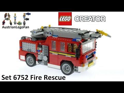 Vidéo LEGO Creator 6752 : Le camion des pompiers
