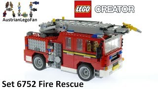 Lego Creator 6752 Fire Rescue - Lego Speed Build Review