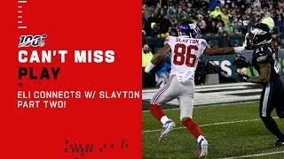 Eli Connects w/ Darius Slayton AGAIN for the TD!