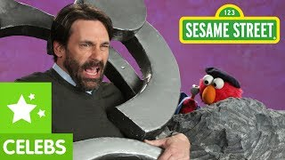 Sesame Street: Jon Hamm and Elmo -- Sculpture