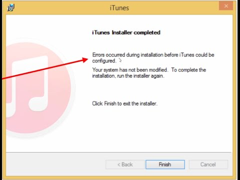 iTunes Was Not Installed Correctly