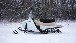 Самодельные снегоходы для рыбалки своими руками