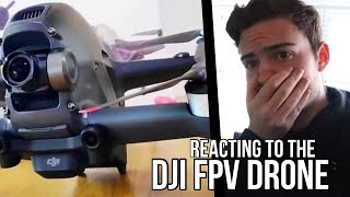 """Reacting to the DJI FPV Drone Unboxing + """"Flight Footage"""""""
