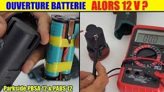 ouverture batterie perceuse 12v parkside lidl pbsa 12 et pabs 12 - alors 12v ?