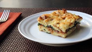 Bacon Cheddar & Spinach Strata – Bacon Cheddar & Spinach Breakfast Casserole