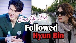Son Ye Jin followed Hyun Bin / Hyun Bin ❤️ Son Ye-jin - 현빈 ❤️ 손예진