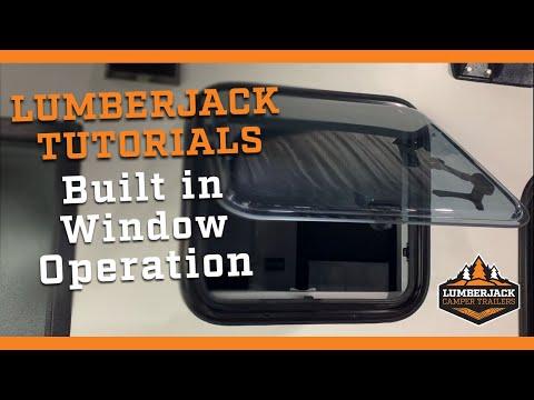 Hybrid, Pod & Camper Trailer Built in Window Operation