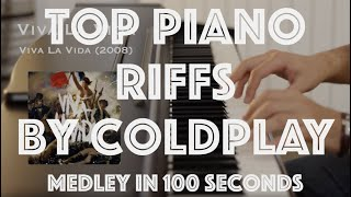 Top Piano Riffs by Coldplay - Medley in 100 Seconds - #5
