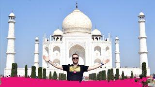 Visiting the TAJ MAHAL a WORLD WONDER + Day Trip to Fatehpur Sikri | Agra, India