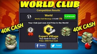 💰40K Cash💰 Expert Village World Club 8 Ball Pool 💰🔥