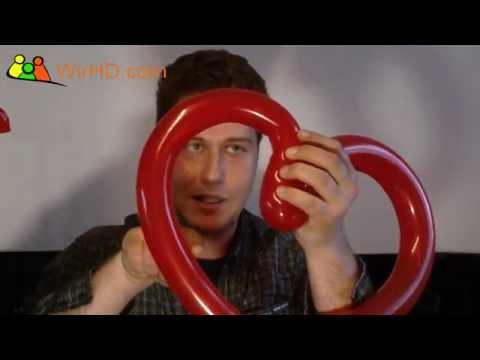 Valentinstag Herz selber machen mit Ballons, Ballonmodellage, Herz Modellieren, ballonmodellieren