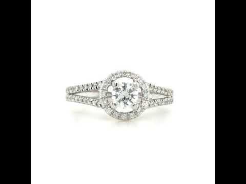 .90 Carat Total weight Diamond Ring Set In 14Kt White Gold-
