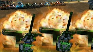 Tanki Online - What happens when 10 thunders shoot at you