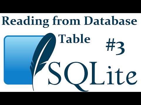 Read From Select Database Table Sqlite3 With Python 3 Part 3