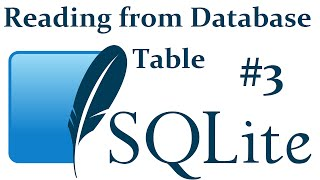Read from (SELECT) Database table - SQLite3 with Python 3 part 3
