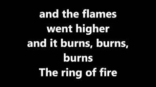 Lyrics~Ring of Fire-Johnny Cash - YouTube