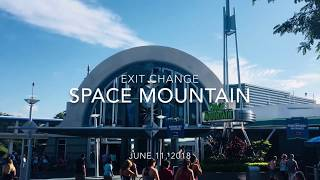 Exit Change at Space Mountain - Magic Kingdom - June 11 2018