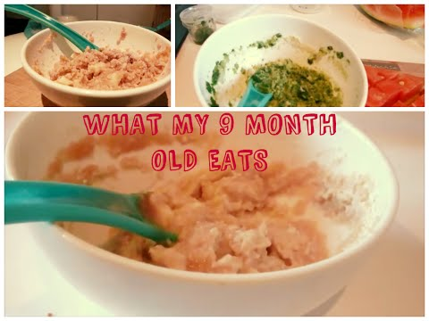 Video WHAT MY 9 MONTH OLD EATS