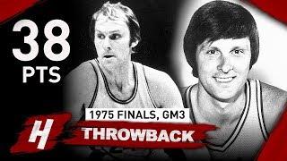 Warriors Legend Rick Barry Full Game 3 Highlights vs Bullets (1975 NBA Finals) - 38 Pts, 6 Ast!