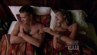 One Tree Hill 6x07 Lucas and Peyton Bed Problem