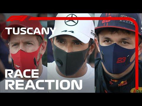 F1 トスカーナGP レース直後のドライバーインタビュー。コメント映像