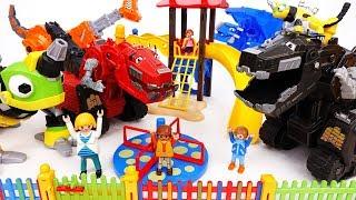 Ty-Rux Shadow Is Bullying Children~! Dinotrux, Let's Trux It Up - ToyMart TV