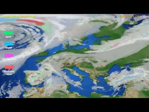 Precipitation forecast Europe // modelrun: 12h UTC 2020-03-15