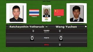 Final: Ratchayothin Yotharuck vs Wang Yuchen