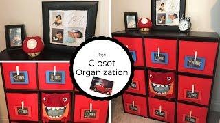 Boys Closet Organization!