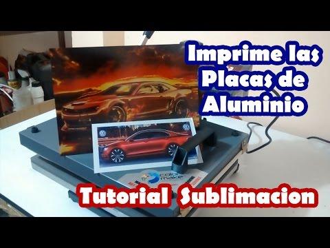 Imprimir Placa aluminio personalizada en sublimacion